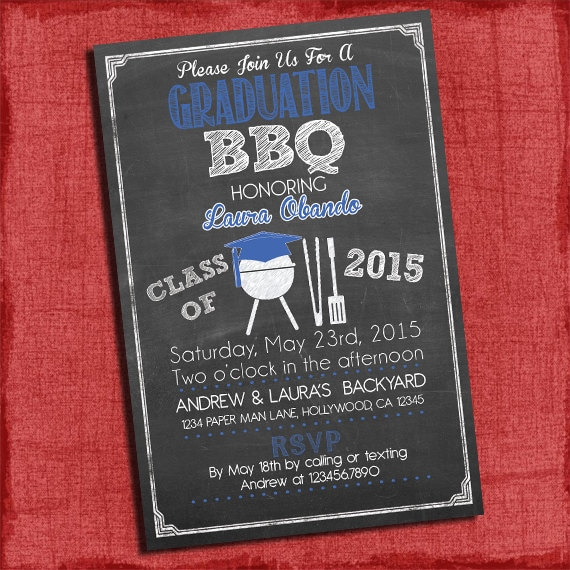 Graduation Bbq Party Invitation on High School Graduation Invitations Printable