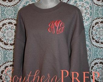 Crew Neck Monogrammed Sweatshirt