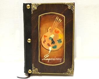 Scrapbook journal, artist's gift, blank book, hardcover book, diary notebook, sketch book journal, artist's journal, artist's sketchbook