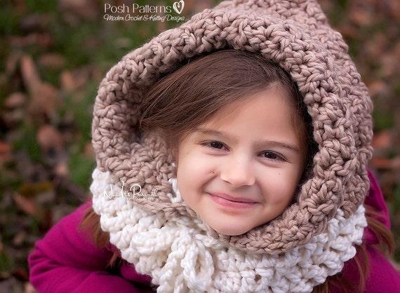Crochet Baby Cowl Pattern : CROCHET PATTERN - Hooded Cowl Pattern - Hooded Cowl ...