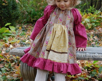 Baby Molly's Faux Apron Peasant Dress PDF Pattern size newborn to 18/24 mos