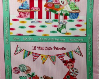 Quilting Treasures - Desirees Designs - Cutie Patootie - Sweet Shope - Fabric Panel