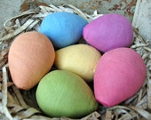 Spun Cotton Watte Egg Collection - Pick Your Color