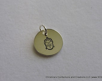 Buddha Head Charm or Necklace (#1600)