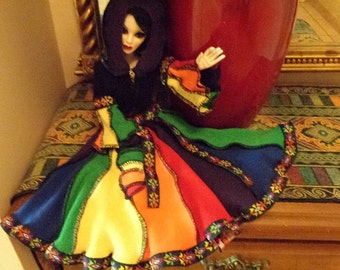 Evangeline Ghastly rainbow elf coat