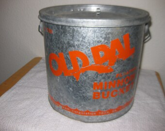 Vintage OldPal Minnow Bucket collectible ON SALE