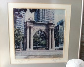 "Vintage Altered Art of ""The Arch Park"" - Architectural Signed Art by Price, Historical Gift, Vintage Art Gift, Vintage 1991 Price Framed Art"