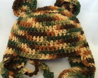 Camo Teddy Bear Hat