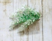 Ombre Leaves Hair Pin, Bridal updo, green, spring wedding, Hair Accessories,  Bohemian, summer, Fashion, Woodland, Hair Clip