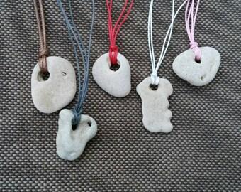 Natural Holey Stone Necklace. Talisman Amulet Hag Stone Pendant. Meditation Rock Necklace. Reiki Eco Jewelry. Metaphysical New Age Stone