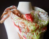 Large Square Flower Pattern Scarf