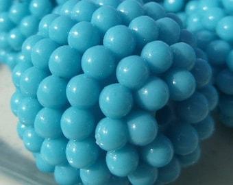 28mm, 4 CT, Blue Chunky Berry Beads, Bubblegum beads, Chunky Beads, F30