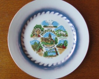 Montana Souvenir State Plate