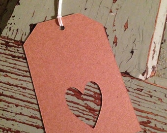 Gift Tags with heart- 12 pack