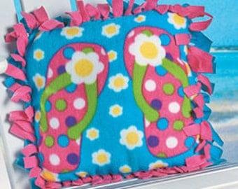 Fleece Flip Flop Pillow Kit