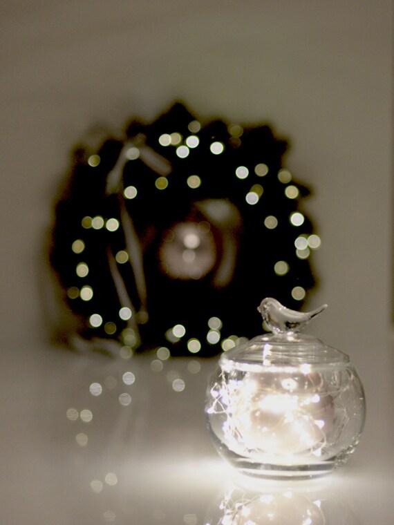 FAIRY LIGHTS / Microdrop LED string garland - cooper wire mini wedding lights -backdrop ...