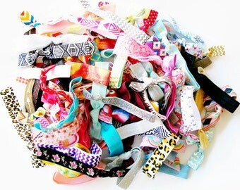 Hair Ties, Grab Bag Set of 20, elastics hair tie hair accessories party favor mixed design ponytail holder elastic hair band