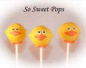 So Sweet Pops Happily Made Duck Inspired Cake Pops