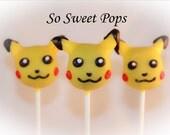 So Sweet Pops Happily Made Pikachu Inspired Cake Pops