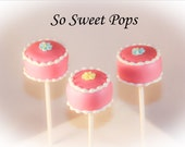 So Sweet Pops Happily Made Pink Birthday Cake Cake Pops