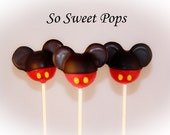 So Sweet Pops Happily Made Mouse with Red Inspired Cake Pops