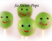 So Sweet Pops Happily Baby Head Pea Head Inspired Cake Pops