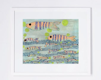 Fish Whimsical Nursery Art