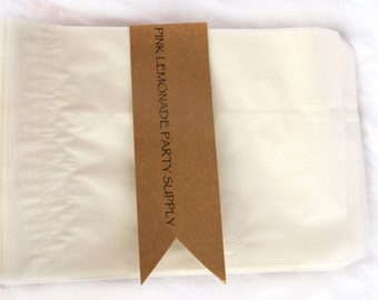 20GLaSSiNe BaGs-large 5.5 x 8 inches-wax lined-translucent-bakery bags-Party Favors-Wedding Favors-Gift Wrapping--Crafts--20ct