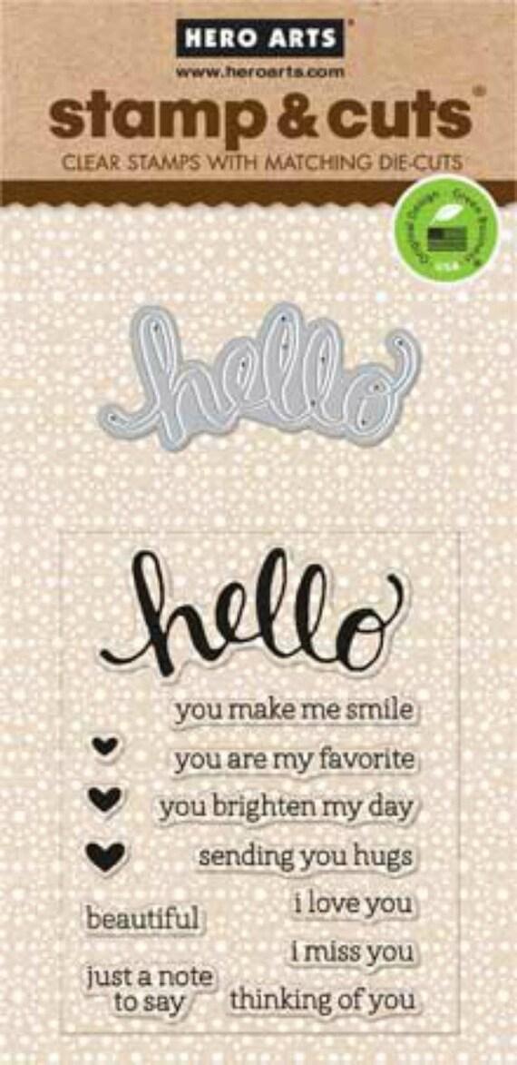 Hero Arts Hello Stamp Cut DC151 Clear Stamp die