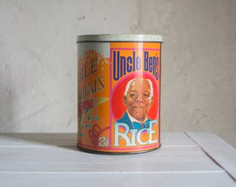 French Metal Tin // Uncle Ben Art Nouveau Style Tin // Made in W. Germany // Collectible Tin