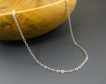 30 Inches Long Bright Silver Chain Medium Link Necklace Chain |CH2-Med-BS30