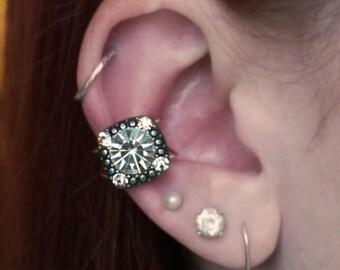 Amber Stone Gold Ear Cuff