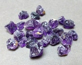 Rough Tumbled Stones. Amethyst. Gemstone Undrilled. Wire Wrapping Stone. 10mm - 22mm. One (1)