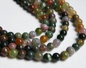 Natural earthy Fancy Jasper gemstone round 6mm full strand 1007PS