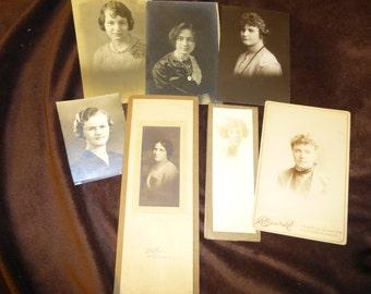 Photos Lot of 7 Vintage Women Several Eras