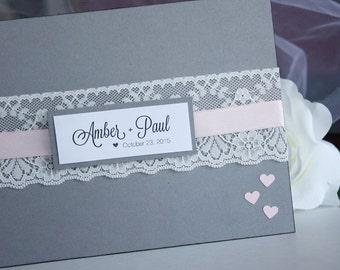 Custom Classic Wedding Guest Book, Wedding Guestbook, Classic Guest Book, Personalized Guest Book, Rustic Wedding, Vintage Wedding
