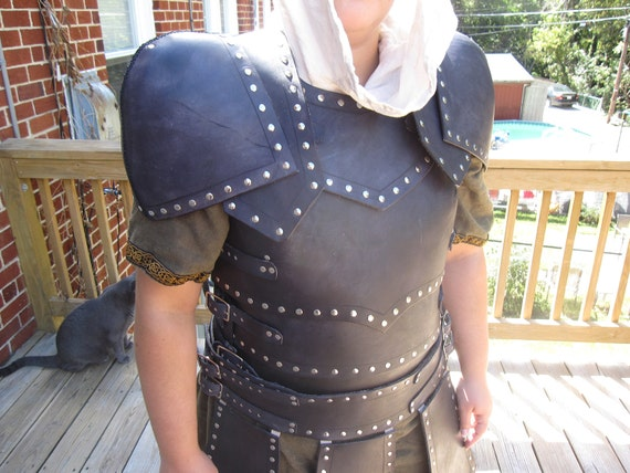 Black Studded Leather Armor