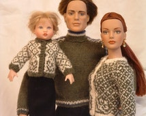 Marvelous Miniatures PDF Knitting Pattern for Tyler Wentworth, Matt O'Neill, Betsy McCall, and Riley Kish