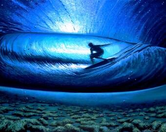 Original Surfing Ocean Beach Wave Painting