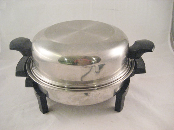 Lifetime Oil Core Electric Skillet By West Bend Vintage 1970s