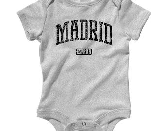 Baby Madrid Spain Romper - Infant One Piece - NB 6m 12m 18m 24m - Madrid Baby - 4 Colors