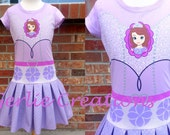 CLEARANCE SALE Girls Sofia the First Dress, Sofia the First, Girls Dress, Lilac Purple Dress, Princess Dress - Last One 6X