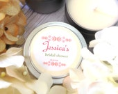 Set of 12- 4 oz. Soy Candle Bridal Shower Favors Jessica Floral Design Bachelorette Guests Favors Eco Friendly Soy Candle Wedding Favors