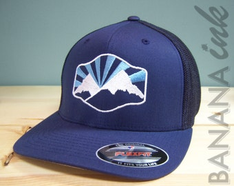 Idaho Mountains Hat -BANANA ink
