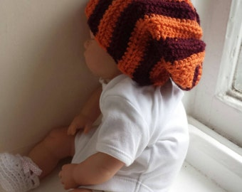 Welsh handmade crochet baby slouch hat 0-6 months
