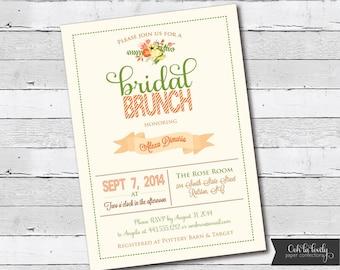 Fall Bridal Shower Invitation, Fall Bridal Shower Invitation, fall shower invite, bridal brunch invite, printable, diy