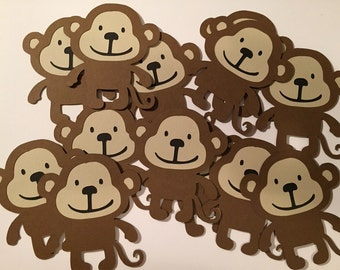 Monkey die cuts/Cupcake toppers/Centerpieces
