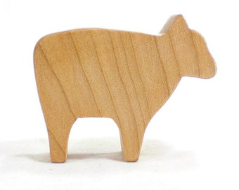Wooden Sheep Toy Animal Lamb, Farm Animal Toy, Wood Toy, Wood Toy for Kids, Waldorf Toy