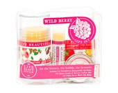Wild Berry Gift Set - All Natural Body Product Gift Set - Lotion, Lip Balms