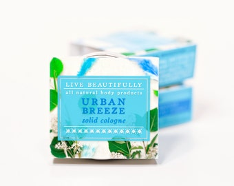 Urban Breeze Cologne - All Natural - Masculine, Fresh Air, Earth, and Clean Florals